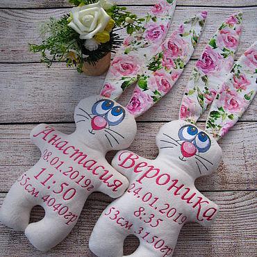 Куклы и игрушки ручной работы. Ярмарка Мастеров - ручная работа Именная игрушка - Зайка. Handmade.