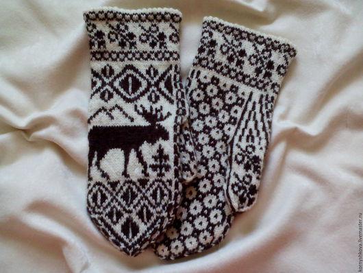 """Варежки, митенки, перчатки ручной работы. Ярмарка Мастеров - ручная работа. Купить Варежки """" Северные олени"""". Handmade."""