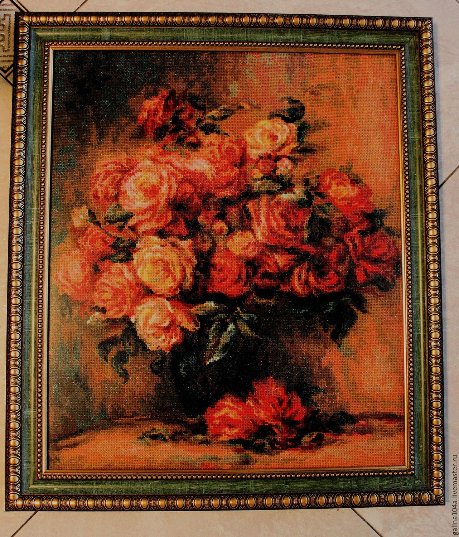 Букет роз ренуар вышивка