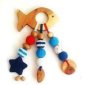 Куклы и игрушки ручной работы. Ярмарка Мастеров - ручная работа Грызунок-прорезыватель Морская рыбка. Handmade.