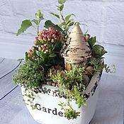 Цветы и флористика ручной работы. Ярмарка Мастеров - ручная работа Мини-садик Garden. Handmade.