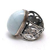Rings handmade. Livemaster - original item Silver ring with blue diopside Cyberwoman. Handmade.