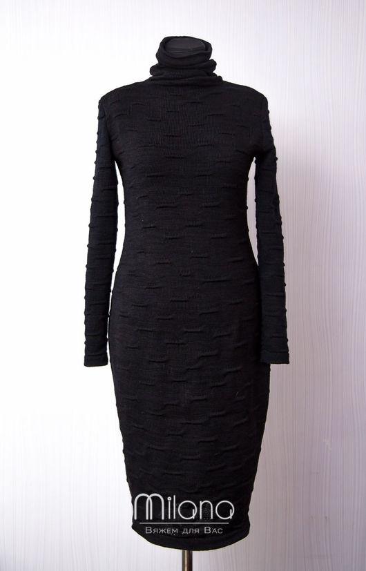Платья ручной работы. Ярмарка Мастеров - ручная работа. Купить Вязаное платье Black night. Handmade. Черный, трикотажное платье