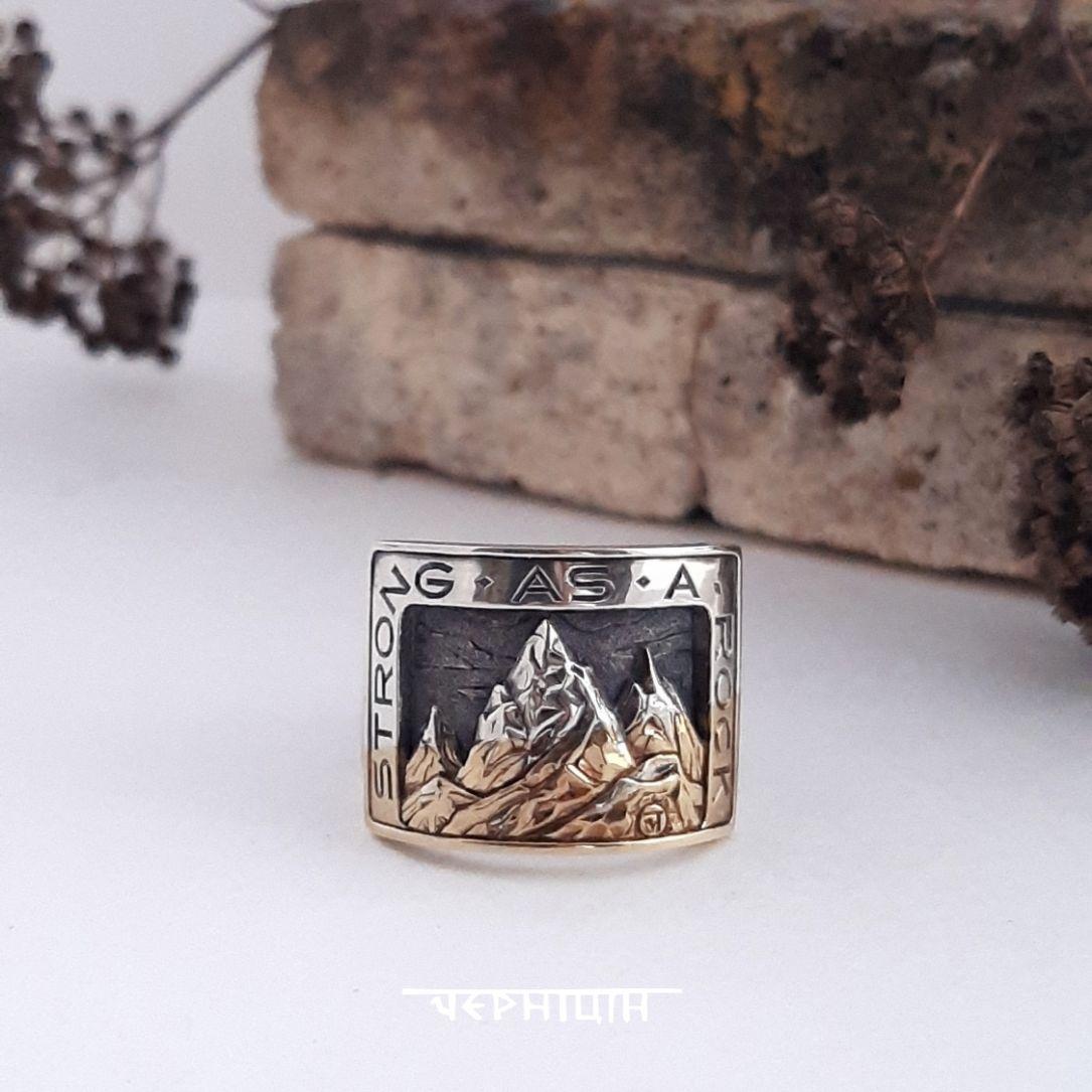 Кольцо мужское Горы, Кольцо-печатка, Ижевск,  Фото №1