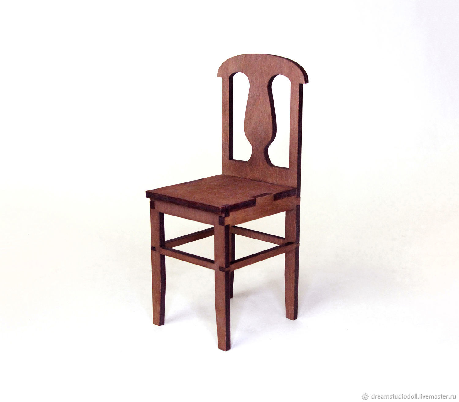 Chair for dolls 1:6 (Barbie), 1:4: 1:3 MSD, 70 SD,  cm, Doll furniture, St. Petersburg,  Фото №1