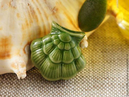 Для украшений ручной работы. Ярмарка Мастеров - ручная работа. Купить Аромакулон керамический №10 (зеленый). Handmade. Аромакулон, ароматерапия