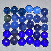 Материалы для творчества ручной работы. Ярмарка Мастеров - ручная работа Стеклянные кабошоны синий микс 10 мм. Handmade.