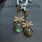 Украшения handmade. Livemaster - original item Earrings . Labrador. Handmade.