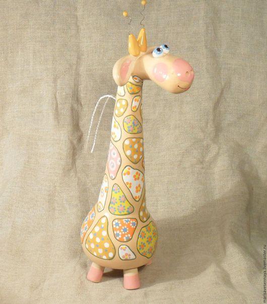 Приколы ручной работы. Ярмарка Мастеров - ручная работа. Купить Керамика Игрушка Жираф. Handmade. Керамика, сувенир, коллекционный колокольчик