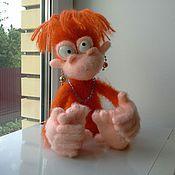 Шуша (вязаная обезьянка, вязаная игрушка, орангутанг, игрушка)