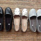 Обувь ручной работы. Ярмарка Мастеров - ручная работа Эспадрильи женские из натуральной кожи питона. Handmade.