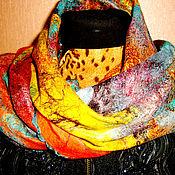 Шарфы ручной работы. Ярмарка Мастеров - ручная работа шарф валяный- первое свидание.. Handmade.