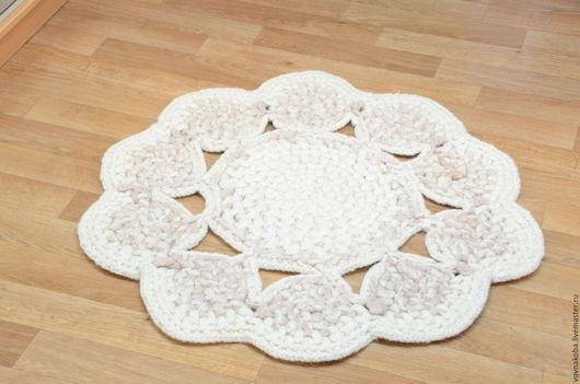 Текстиль, ковры ручной работы. Ярмарка Мастеров - ручная работа. Купить Коврик круглый из овечьей шерсти KB021m. Handmade.