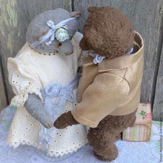 Мишки Тедди ручной работы. Ярмарка Мастеров - ручная работа. Купить мишки тедди Пьер и Натали... и подарок) РЕЗЕРВ!. Handmade.