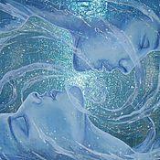 Картины и панно ручной работы. Ярмарка Мастеров - ручная работа Галактика любви. Картина на органзе.. Handmade.