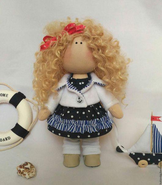 Куклы тыквоголовки ручной работы. Ярмарка Мастеров - ручная работа. Купить Моя морячка, интерьерная кукла.  ДОМ НАШЛА. Handmade.