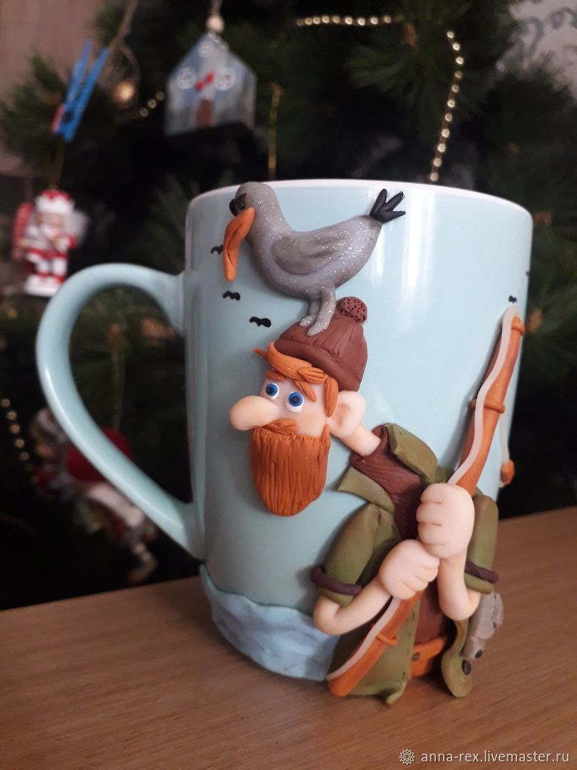 Gifts for hunters and fishermen: a mug to a fisherman, Gifts for hunters and fishers, Moscow,  Фото №1