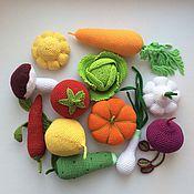 Куклы и игрушки ручной работы. Ярмарка Мастеров - ручная работа Вязаные овощи, набор. Handmade.