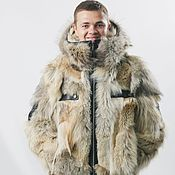 Мужская одежда handmade. Livemaster - original item Men`s wolf jacket. Handmade.
