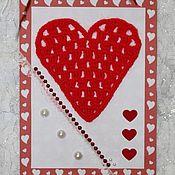 """Открытки ручной работы. Ярмарка Мастеров - ручная работа Открытка """"Горячее сердце"""". Handmade."""