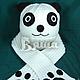 """Шапки и шарфы ручной работы. Ярмарка Мастеров - ручная работа. Купить Комплект вязаный зимний шарф и шапка """"Панда"""". Handmade."""