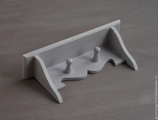Мебель ручной работы. Ярмарка Мастеров - ручная работа. Купить полочка-вешалка в стиле прованс (лилово-серая, 24см). Handmade.