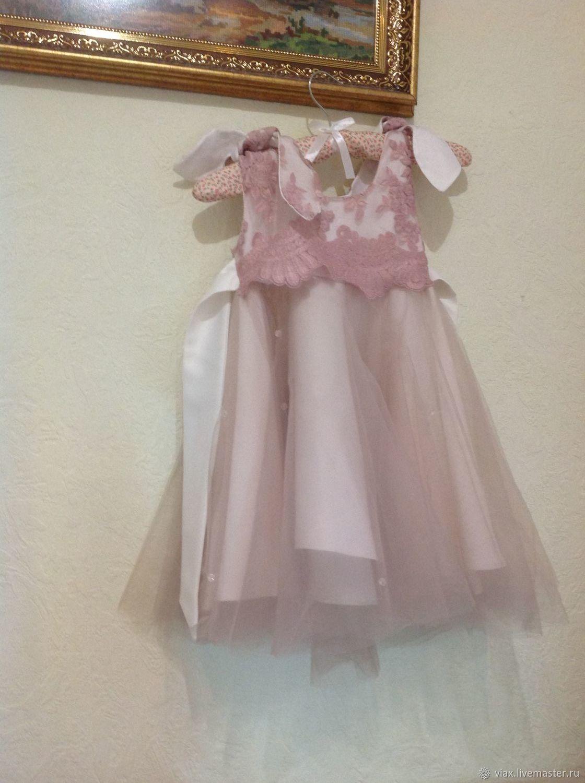 """Платье """"розовая дымка"""""""