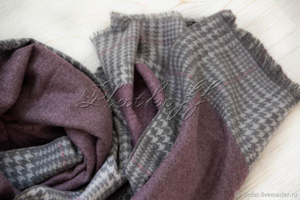 Палантин  женский сиреневый   из ткани Barcelo Biagi, Палантины, Москва,  Фото №1