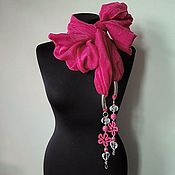 Аксессуары handmade. Livemaster - original item Scarf with pendants 899, cotton. Handmade.