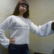 """Одежда ручной работы. Ярмарка Мастеров - ручная работа Кофточка """"Белый ажур"""". Handmade."""