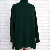 Одежда handmade. Livemaster - original item tunic:: Tunic-sweater oversize dropped shoulder cashmere sea wave. Handmade.