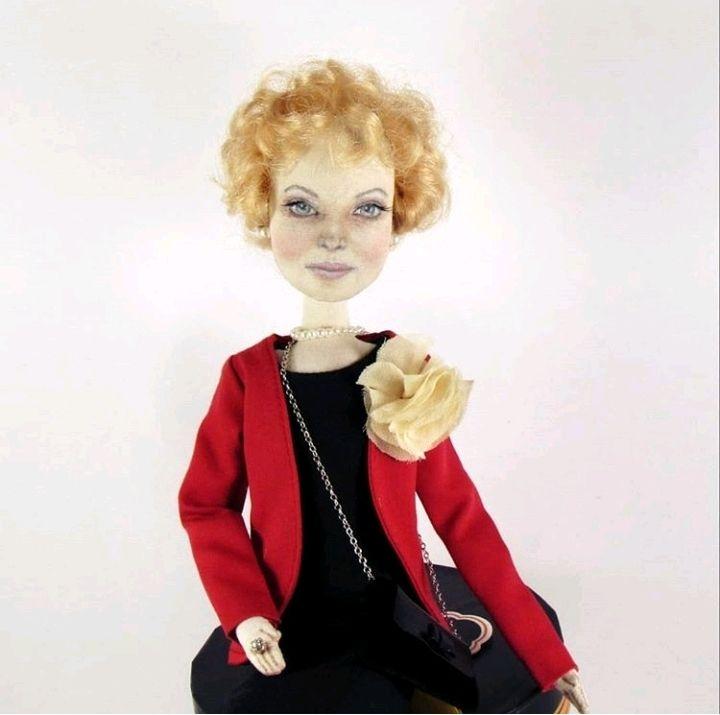 Портретная текстильная кукла, Портретная кукла, Москва,  Фото №1