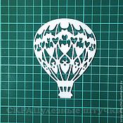 Вырубки для скрапбукинга ручной работы. Ярмарка Мастеров - ручная работа Вырубка для скрапбукинга Воздушный шар ажурный. Handmade.