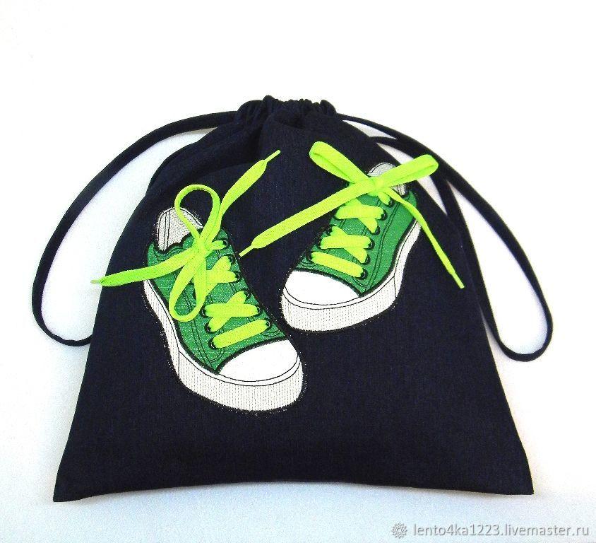 """Мешок для сменной обуви """"Крейзи кеды"""", Сумки для детей, Можайск,  Фото №1"""