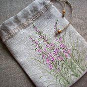 Для дома и интерьера handmade. Livemaster - original item Ivan tea Linen bag for tea,coffee,herbs. Painting.. Handmade.