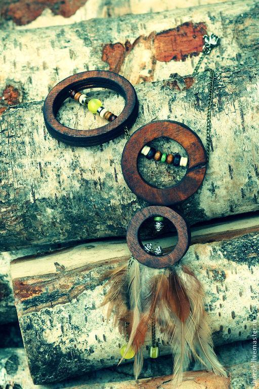 Колье, бусы ручной работы. Ярмарка Мастеров - ручная работа. Купить Африканское Сафари. Handmade. Коричневый, эксклюзивное колье, берёза