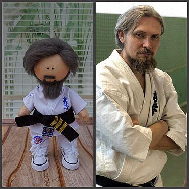 Куклы и игрушки ручной работы. Ярмарка Мастеров - ручная работа Портретная кукла - каратист. Handmade.