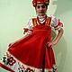 Одежда ручной работы. Ярмарка Мастеров - ручная работа. Купить Сарафан русский народный стилизованный для девочки. Handmade. Костюм для девочки