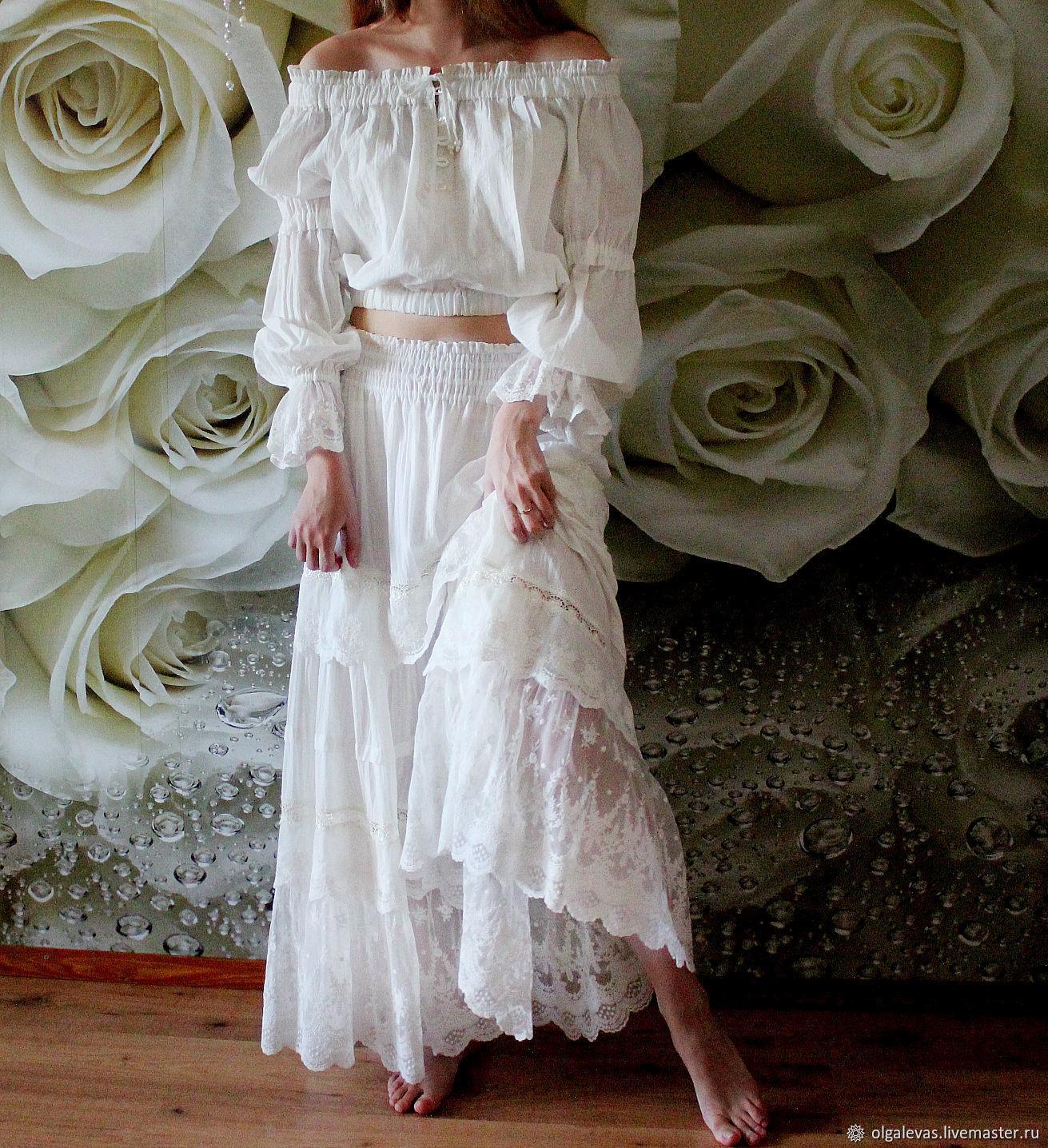 Белое Платье Бохо Шик