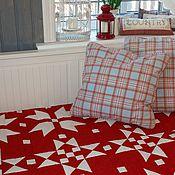 Для дома и интерьера ручной работы. Ярмарка Мастеров - ручная работа Лоскутное одеяло Красное пэчворк. Handmade.