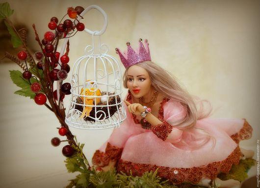Коллекционные куклы ручной работы. Ярмарка Мастеров - ручная работа. Купить Лесная принцесса. Handmade. Принцесса, мох натуральный, фея