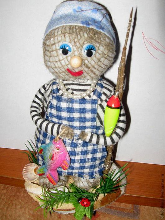 """Сувениры ручной работы. Ярмарка Мастеров - ручная работа. Купить Интерьерная кукла """"Рыбачка Соня"""". Handmade. Сувенир, сувенир для рыбака"""