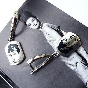 """Украшения ручной работы. Ярмарка Мастеров - ручная работа Серьги """"Одри Хепберн"""". Handmade."""