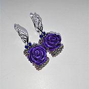 Украшения handmade. Livemaster - original item Earrings-pendants. Beaded decoration. Earrings with flowers. Handmade.