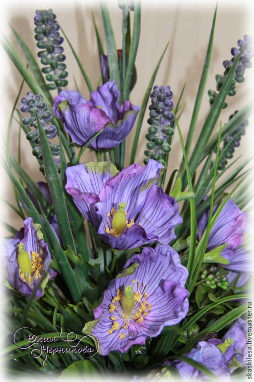Poppies lilac dew, Composition, Novosibirsk,  Фото №1