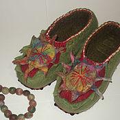 Обувь ручной работы. Ярмарка Мастеров - ручная работа Тапки валяные женские. Handmade.