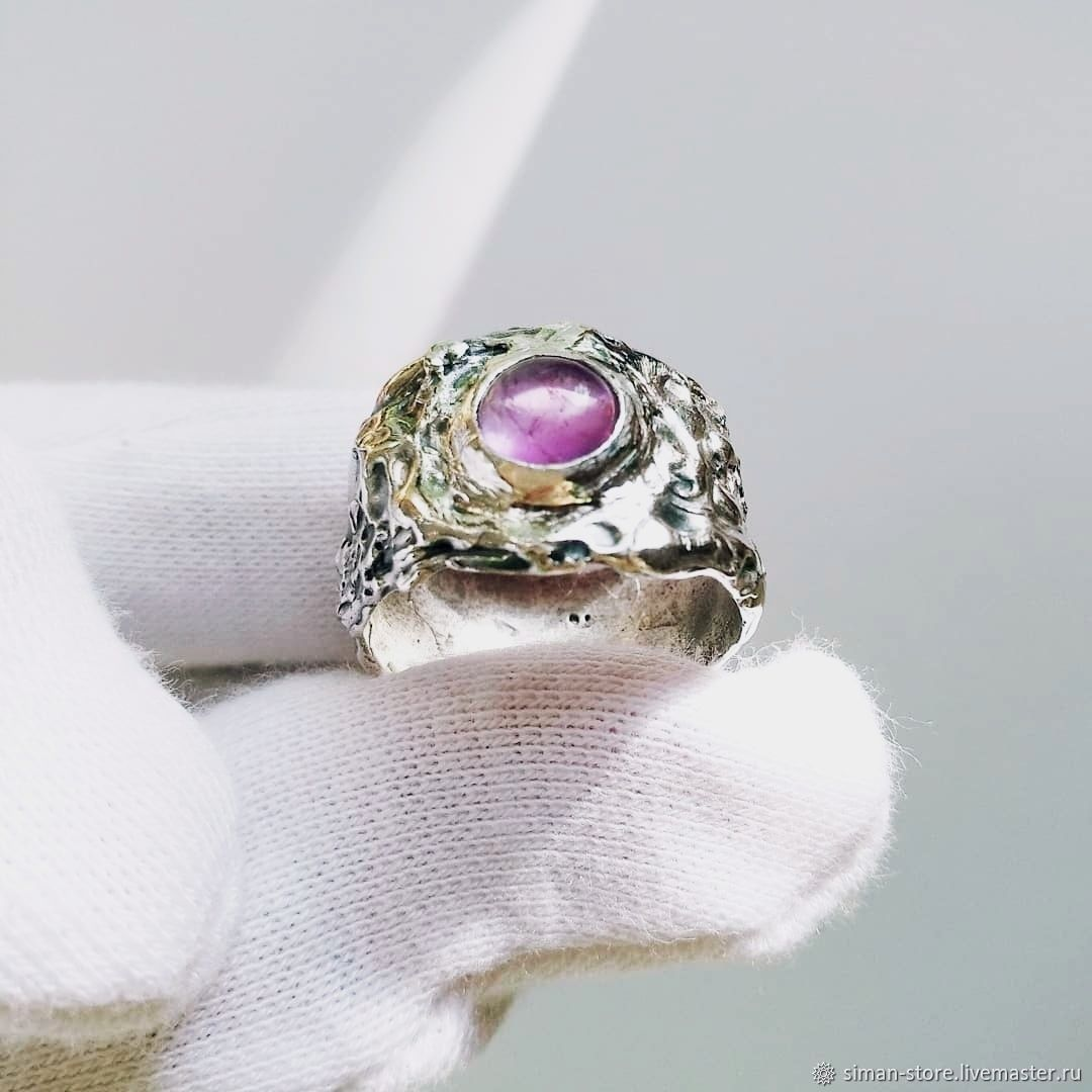 Silver Element ring with amethyst, Rings, St. Petersburg,  Фото №1