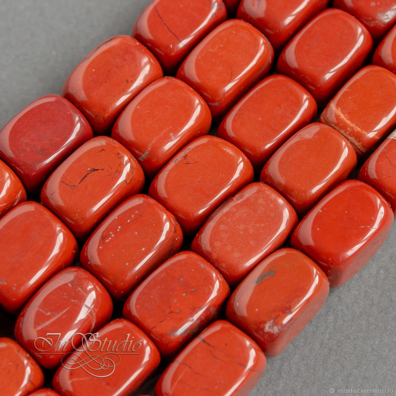 Яшма красная 16 мм крупные прямоугольные бусины, Бусины, Москва,  Фото №1