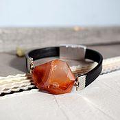Украшения handmade. Livemaster - original item Bracelets on a magnetic lock with agate black and red. Handmade.