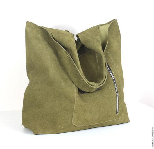 Женские сумки ручной работы. Ярмарка Мастеров - ручная работа. Купить Сумка - Мешок - Пакет -среднего размера с карманом. Handmade.